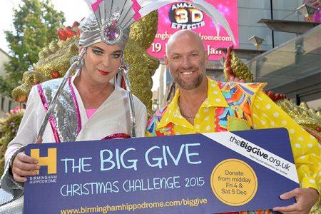 Aladdin stars Julian Clary and Matt Slack get behind the Big Give.