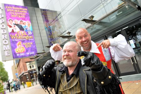 Dick Whittington Photocall - Birmingham Hippodrome.  Pictured are Steve McFadden and Matt Slack. 27th September 2016. Picture by Simon Hadley 07774 193699 www.simonhadley.co.uk