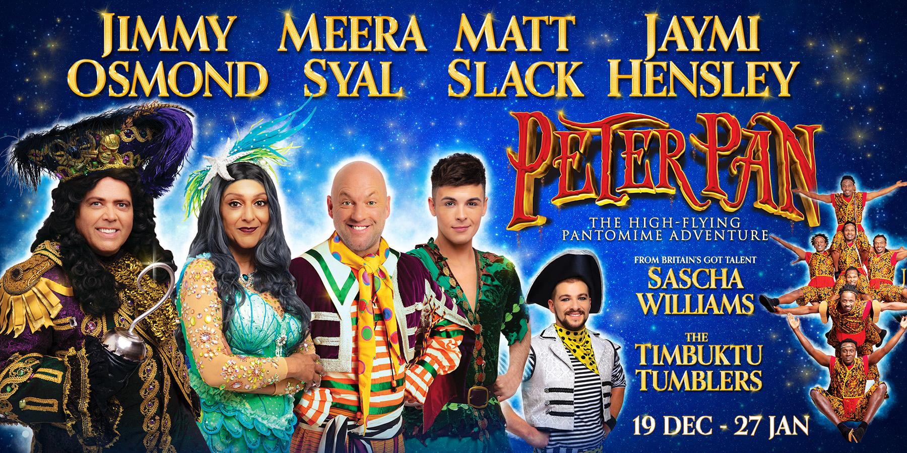 Resultado de imagen de Peter Pan pantomime at the Birmingham Hippodrome jimmy osmond